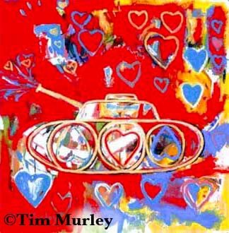 Heart tank. ❤️❤️❤️❣️💥💣🧨   #fineart #missle #rocket #contemporaryart #bomba #hearts #valentine #Abstract #childrensbooks #modernart #popart #wargames #war #worldwar3 #bombs #corazón #tank #corazon #heart #love #amor #TuesdayMorning #tuesdayvibes #arte #painting #graffiti #art https://t.co/TTcIYZ1pdc