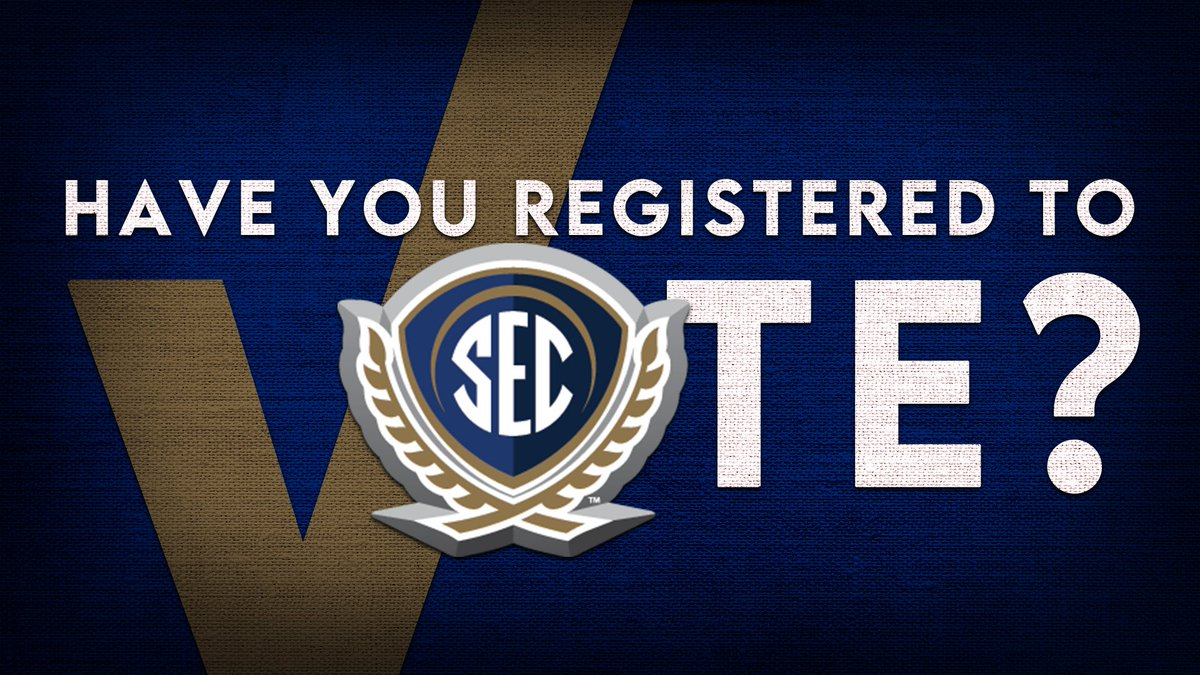 It's #NationalVoterRegistrationDay & we want to remind you in the @SEC Voting Means More! It's a good day to register, check your status or learn about the process in your own backyard. 🗳 https://t.co/Mm4n5p5w1Z