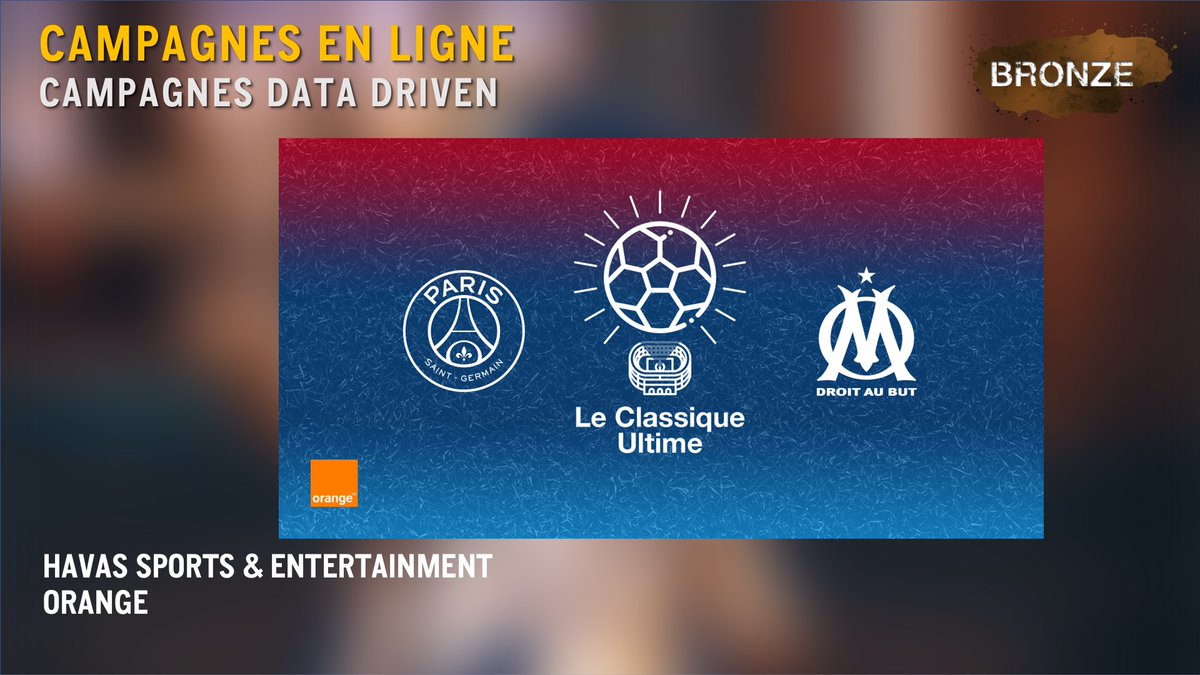 #CampagnesenLigne #CampagnesDataDriven : Un #BRONZE pour @Havas_SE_Fr et @Orange_France pour le dispositif « Orange Classique Ultime » Bravo #gpstrat https://t.co/x4vnEx0GbV