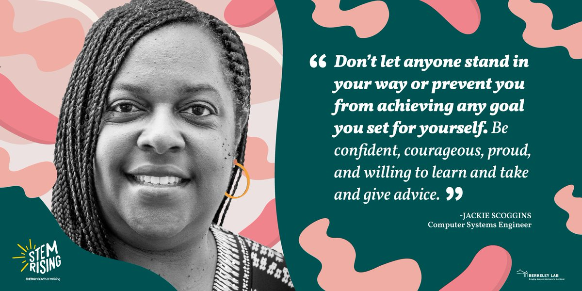 Solid advice from Jackie Scoggins, @BerkeleyLab coming at you, from our #STEMRising Women @ Energy poster series. https://t.co/Dv99vlN7PE ⏬ https://t.co/lfYwQ1vF3B