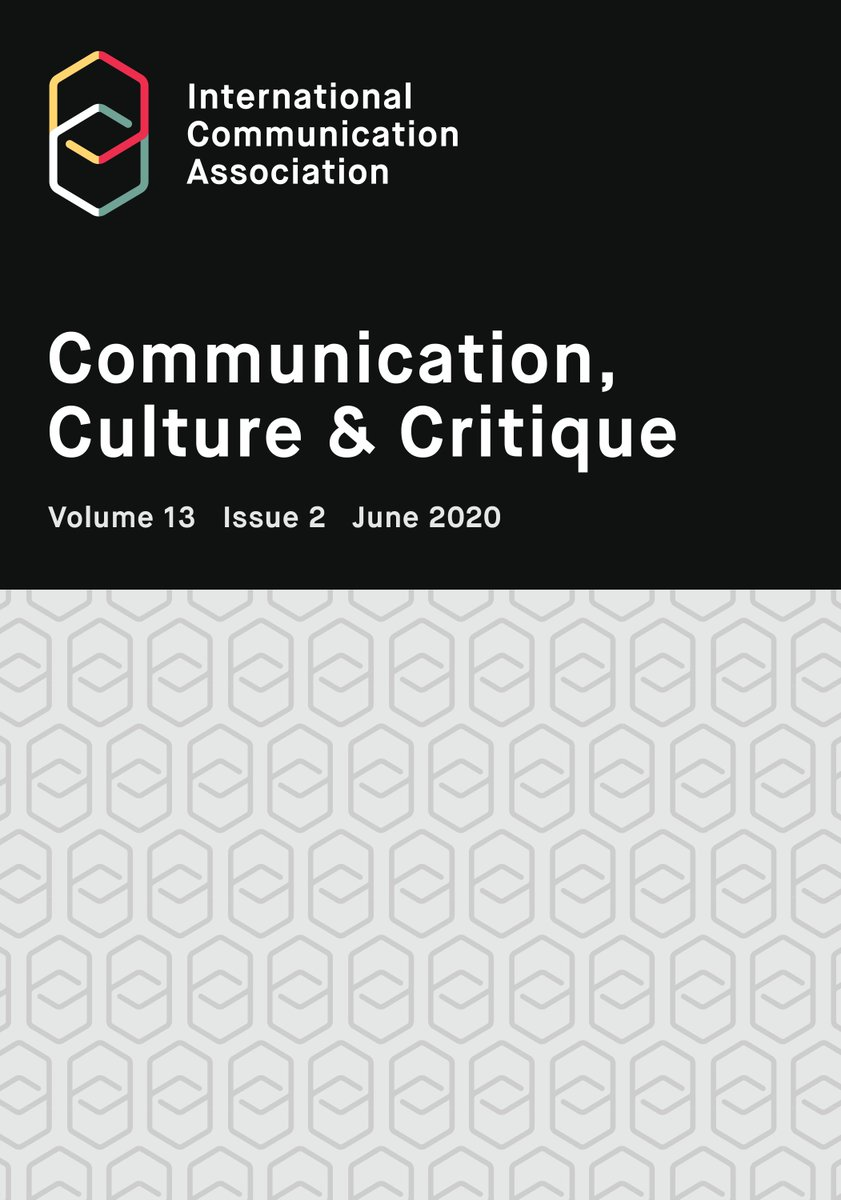 """In the latest special issue of Communication, Culture & Critique, authors explore the implications of """"#CommunicationSoWhite."""" @icahdq https://t.co/sovu3htCex https://t.co/Qsl5mhBWVE"""