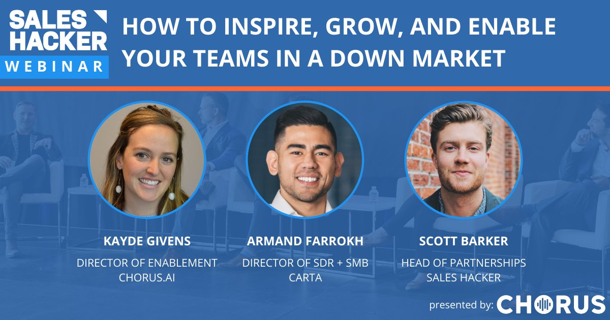 How to Inspire, Grow, and Enable Your Teams in a Down Market https://t.co/9bKNWVNjvv #SalesMarketing #CareerDevelopment #Chorus https://t.co/EGrgyyhgzx
