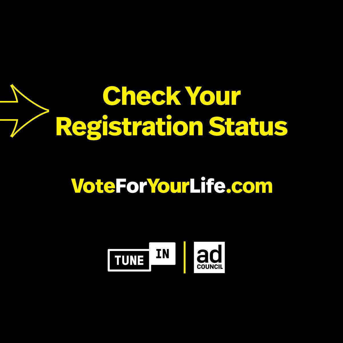 On this #NationalVoterRegistrationDay in the U.S., we are pleased to partner with the @AdCouncil to support, Vote For Your Life. Please visit https://t.co/wy06igOd4V to check your registration status, register to vote, and learn about your voting options. #VoteForYourLife https://t.co/nFhQfr7ILW