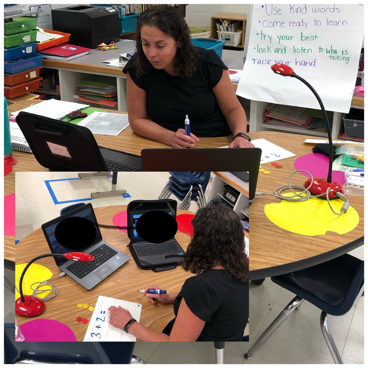 So much going on @LinkhornParkES from #math to #languagearts to getting ready for #f2f Nothing can stop us! @vbschools @KScarbs @allyinvb @TechTeachVB #vbits #VBAlwaysLearning #everychildeveryday  #allin https://t.co/u2yzIMvRdG