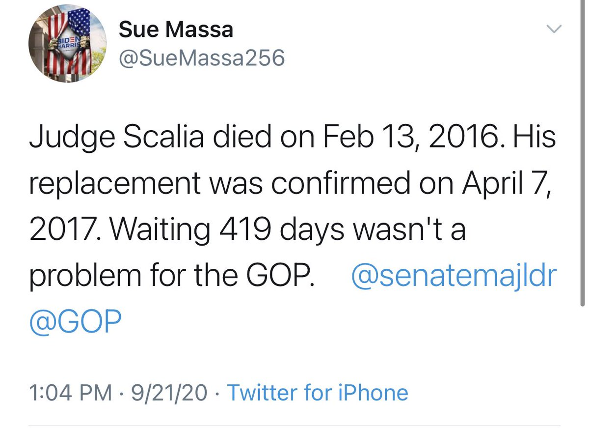 @freeherenow @RepMattGaetz 419 days. Over a year with a 4-4 court wasn't an issue then.