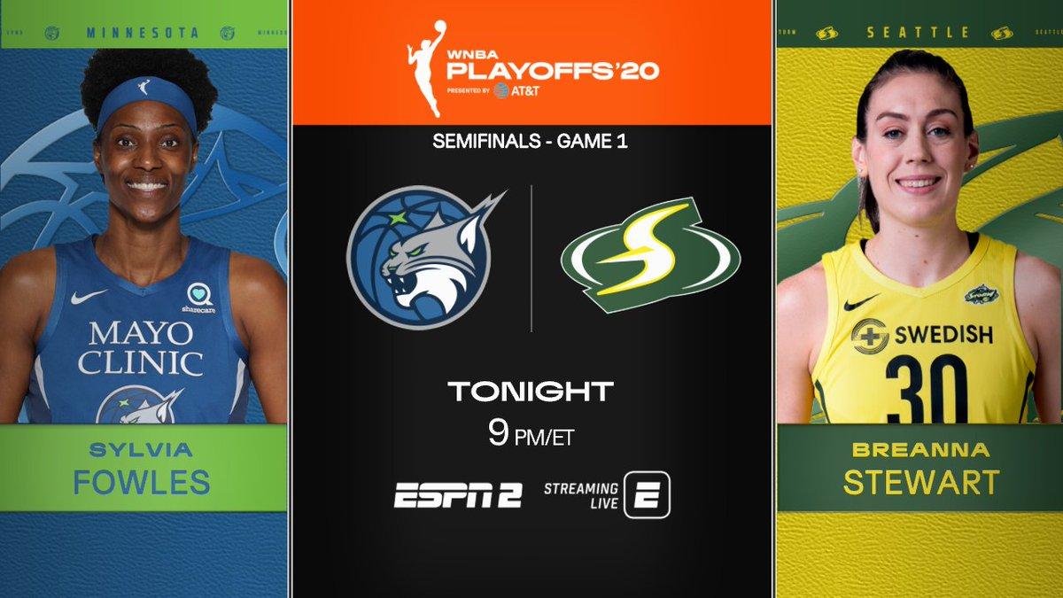 #WNBA Playoffs coverage continues tonight on ESPN2  9p ET   @minnesotalynx vs @seattlestorm  On the call: Pam Ward, @LaChinaRobinson & @sportsiren https://t.co/gIopNRusDE