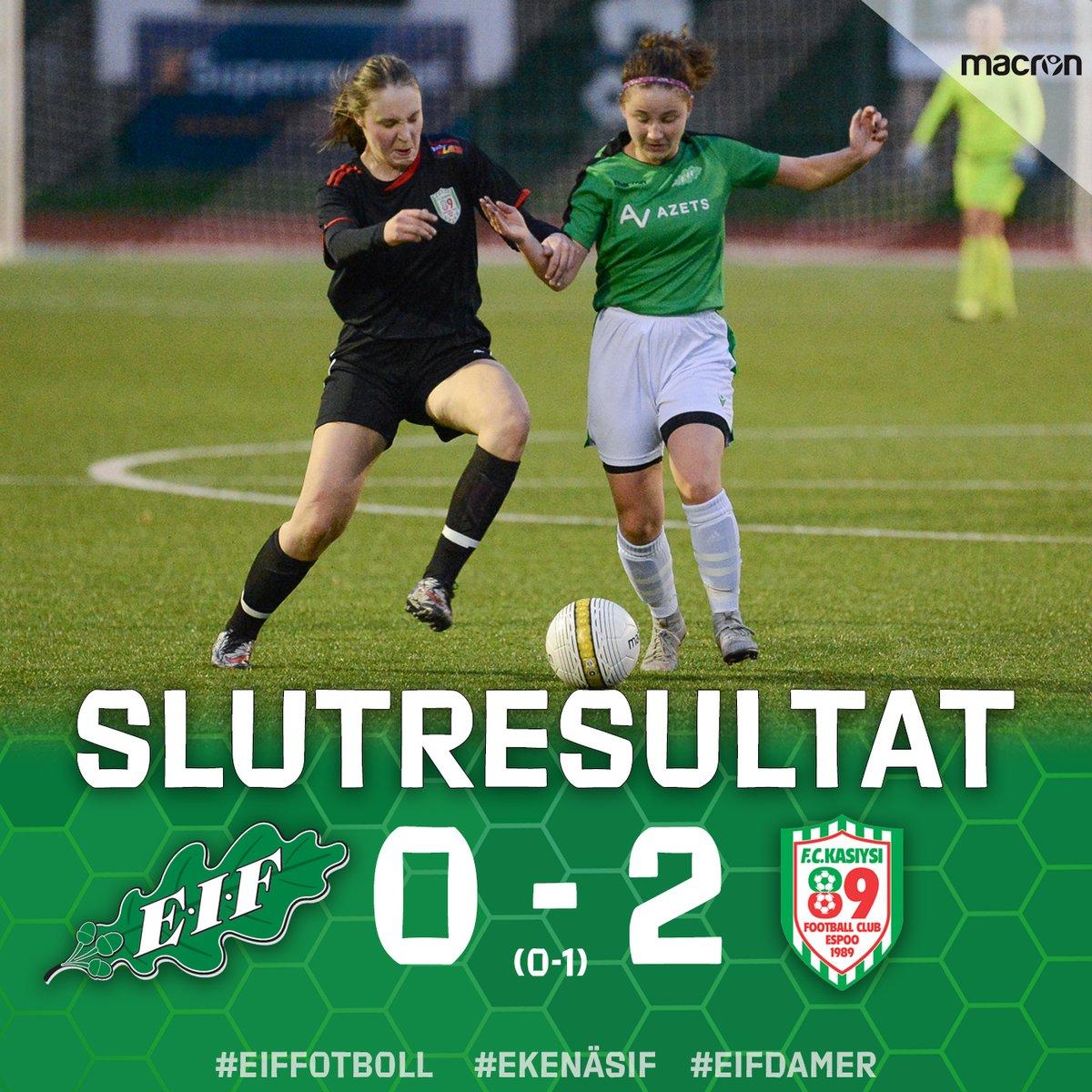 Förlust för damerna i säsongens sista hemmamatch, ett tekniskt skickligt Kasiysi var bättre med 0 - 2. En storpublik var igen på plats och hejade på våra damer. Tack för understödet, vi ses igen nästa säsong! https://t.co/P1ETCEuIUp