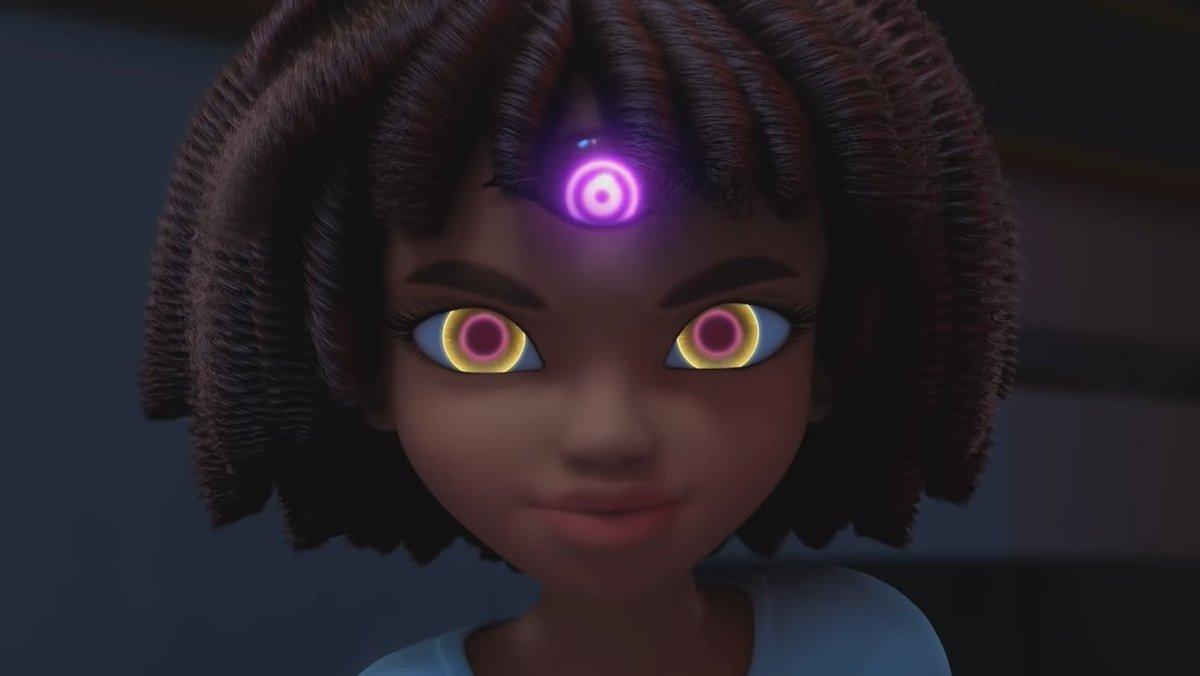 A heroine with tri-eyes? Huh? Is she a cyborg heroine?  A robot heroine? Or an alien heroine? Find out Friday! #Miraculous #MiraculousLadybug #MiraculousLadybugSeason4 #ZagHeroeZ https://t.co/6hmea0SYlC