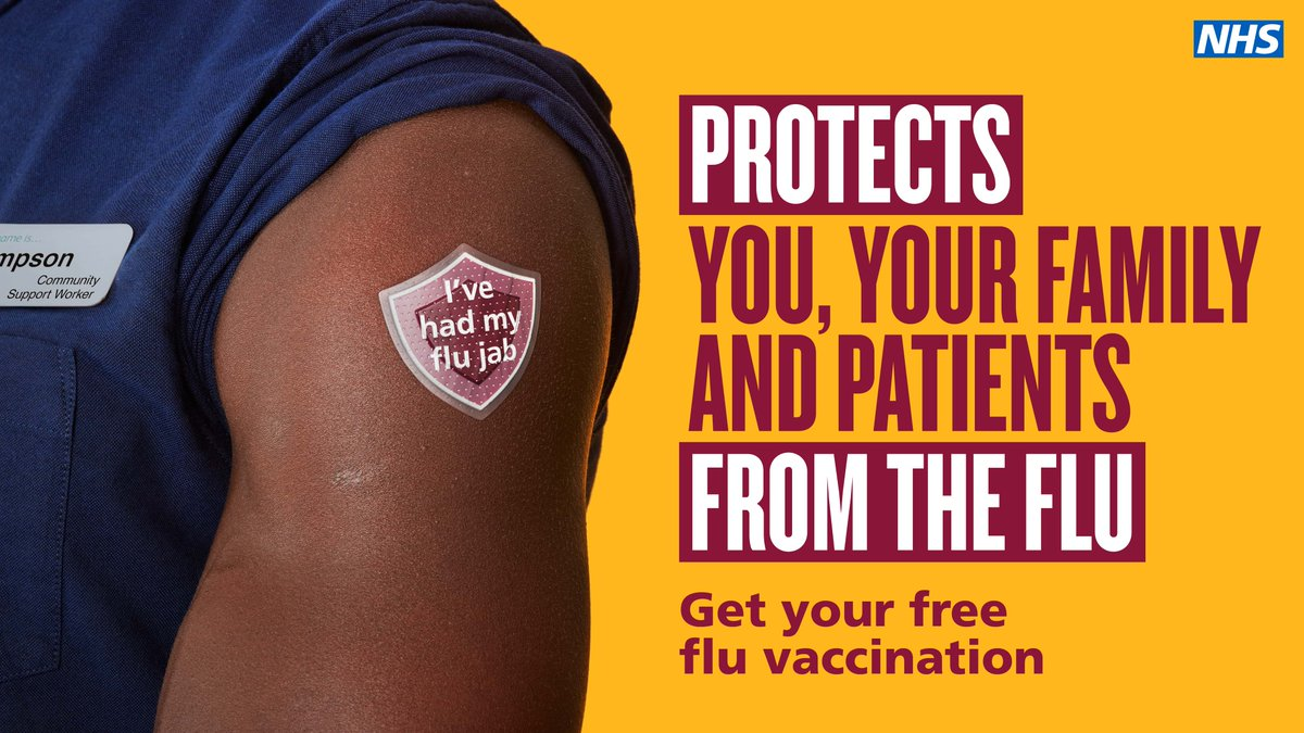 📢 NHS staff — protecting yourself against flu has never been more important.    Whilst the threat may be invisible, the protection against it is clear. If you work for the NHS, get the free flu vaccine and protect those close to you. https://t.co/FTp2AHW6uP