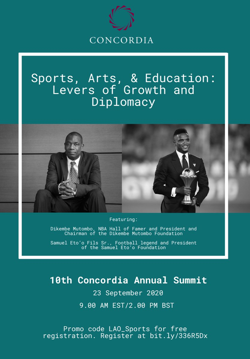 Excited for tomorrow's conversation with @setoo9 & @officialmutombo! #Concordia20