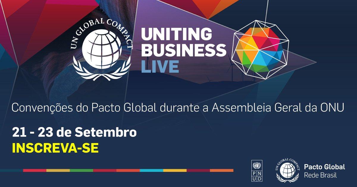 Empresas e organizações que integram @PactoGlobalBR, vinculado ao PNUD, estão convidadas para participar do Uniting Business Live, evento que acontece durante a Assembleia Geral da ONU para um debate sobre o avanço dos #ODS. Acesse o link para saber mais: https://t.co/1mYLqwbFkT. https://t.co/yqHNpz8z4b