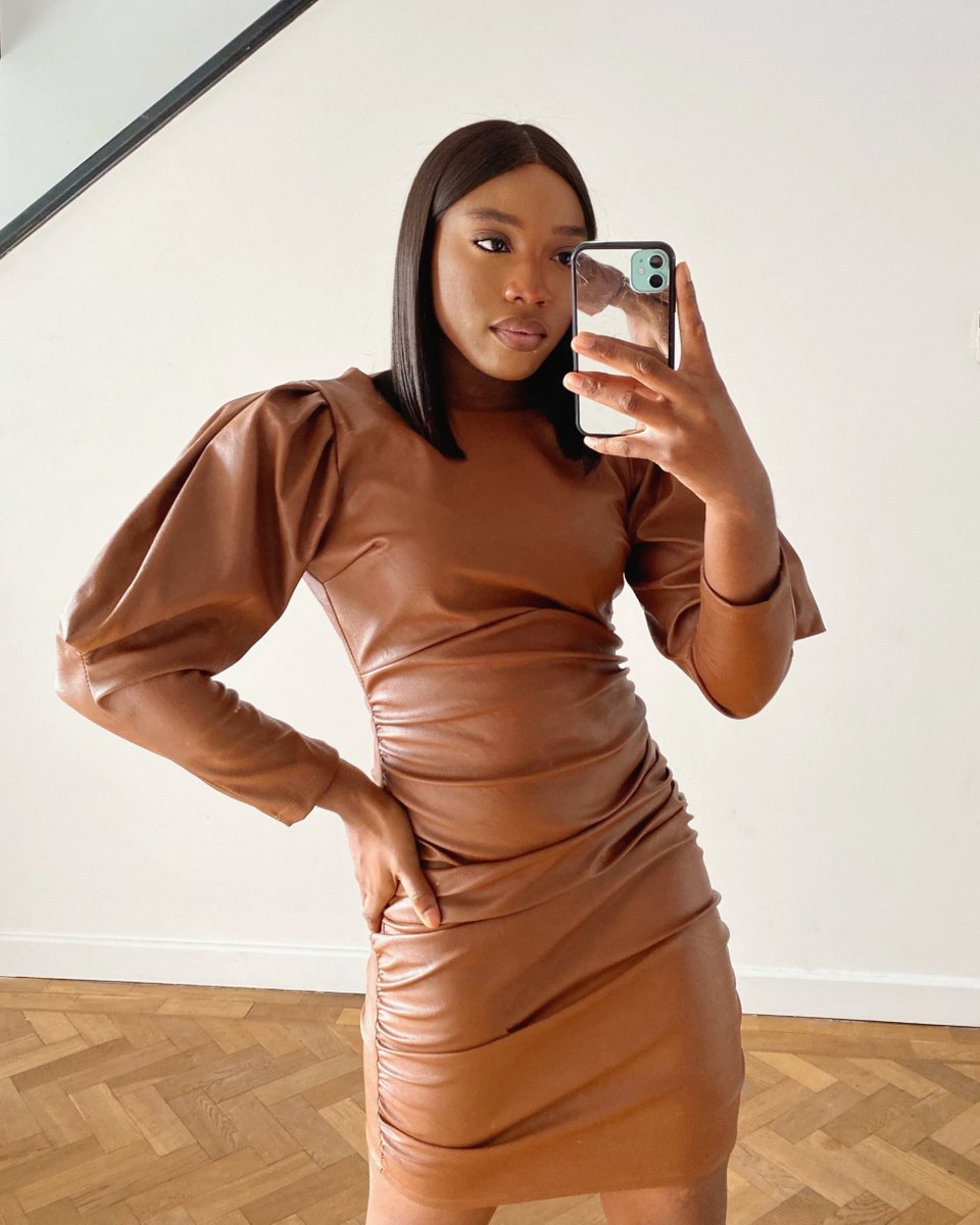 Image for Verified sneak peak. 📸 This faux Leather dress is a fav at ikrush HQ 🍂  A new arrivals dropping soon. 📸 @stxphxny https://t.co/Ub1mTQ6Ffe