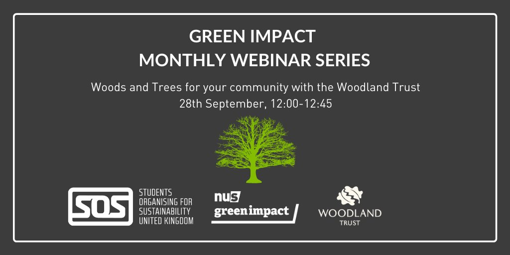 We're thrilled our next #GreenImpact webinar is being delivered by Zara Holden from the @WoodlandTrust all about how we can get involved in our local woodlands. Register to join here; https://t.co/mivHV1sAs0 🌲 https://t.co/3j8ZlgDRO7