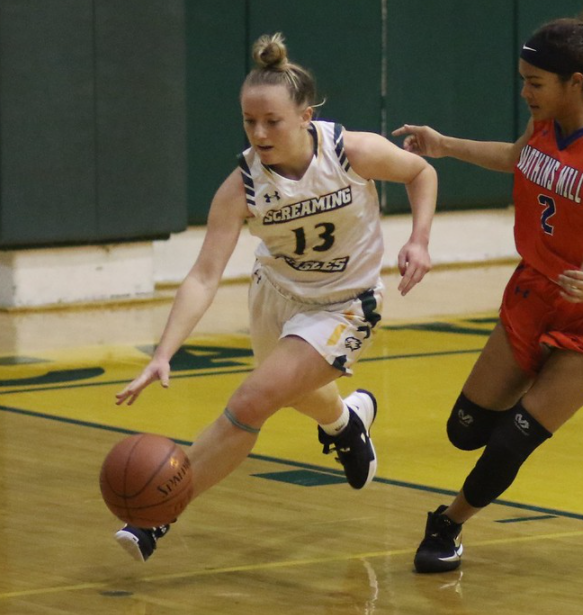 Our 2019-20 #SVGBB Eagle Award goes to Hannah Himes. She won this last season & yes she has won it again. Her presence, positive mindset, & high engagement level represent ALL that a coach or teammate could EVER ask for. We will miss you Hannah. #college #family #Congrats #svhs https://t.co/5rC3mDAWOY