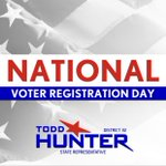Image for the Tweet beginning: It's National Voter Registration Day!