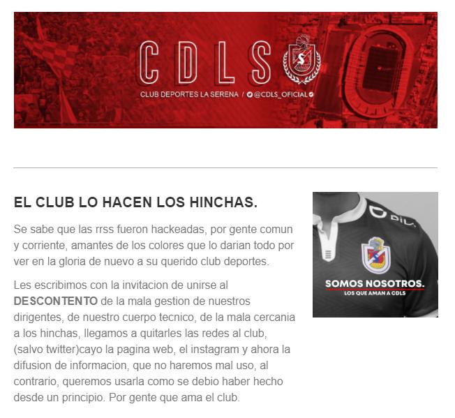 Ojo! Adherentes de Club de Deportes La Serena no sólo se tomaron redes sociales y página web, también el proceso de difusión de información. Llegan sus mensajes la correo. https://t.co/CynxLEmf2I