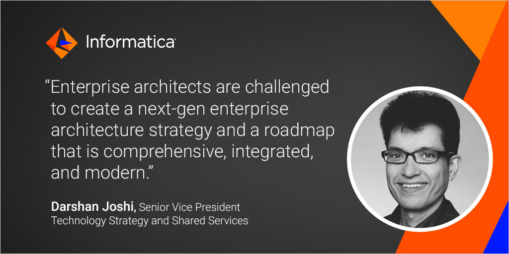 """@Informatica's SVP of Technology, Darshan Joshi shares data challenges and platform benefits in his most recent blog, """"5 Key Capabilities of a Next-Gen Enterprise Architecture"""". https://t.co/hEf5Z9jiMD https://t.co/CaofmWfoG5"""