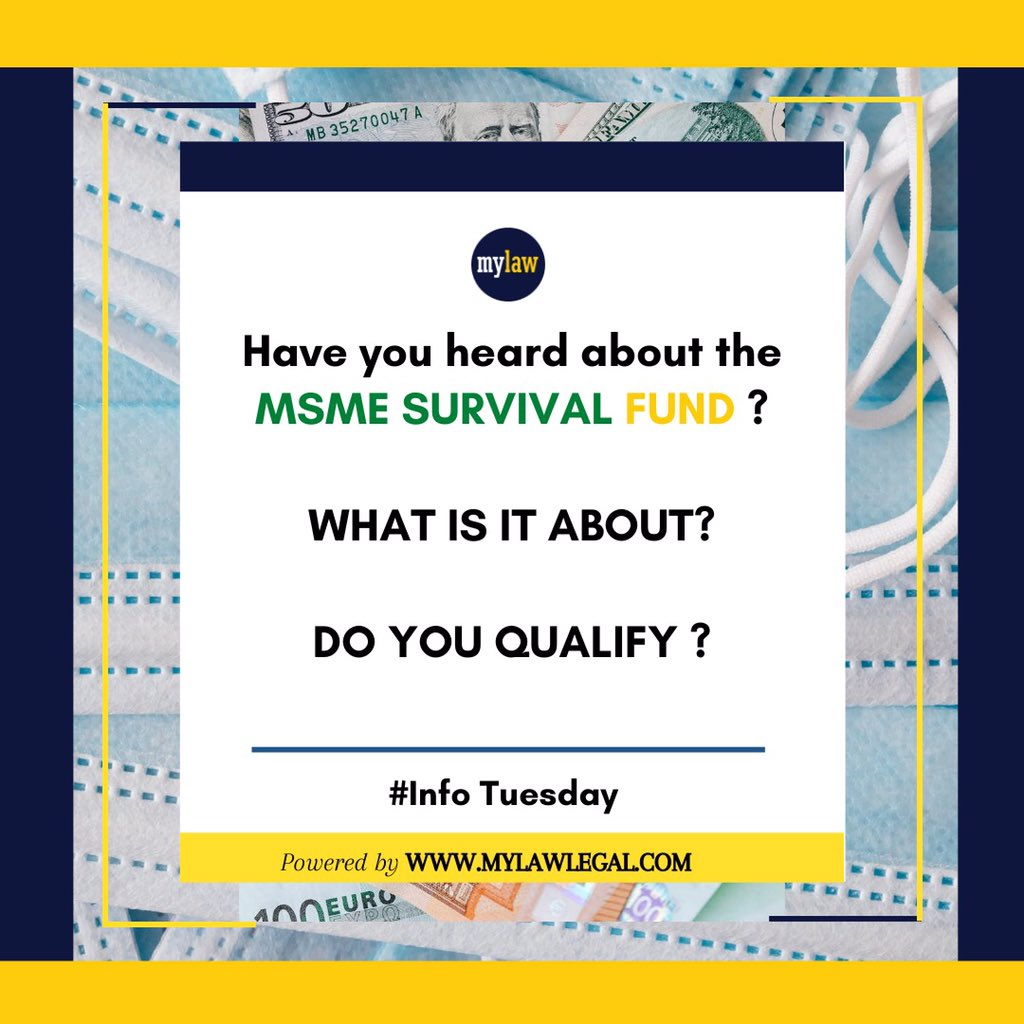 It's Info Tuesday.  Learn about the Government's new plan for Small businesses.  #msmes #MSMESurvivalFund #tech #techlaw #law #legal #Government #fund #relief #covid #trending #businesses #Entrepreneur https://t.co/FAeauHHFzq
