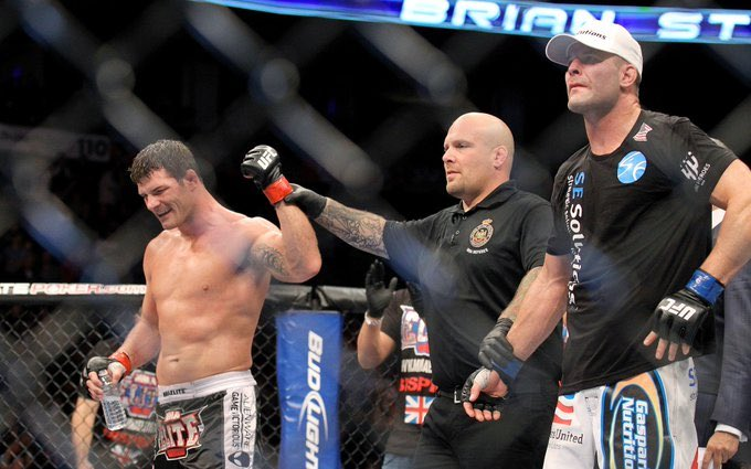 Sep22.2012  Michael Bisping rebounds from his controversial loss to Chael Sonnen,  by defeating Brian Stann by unanimous decision https://t.co/DZ5B5xu8xI