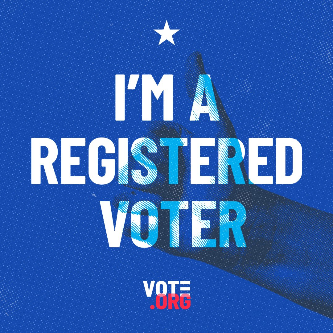 Every year millions of Americans can't vote because they don't register in time. We have too much on the line for that! Make sure you're registered to vote @Votedotorg and get this super fun sticker too. #VoteReady https://t.co/ggouC3PHwo