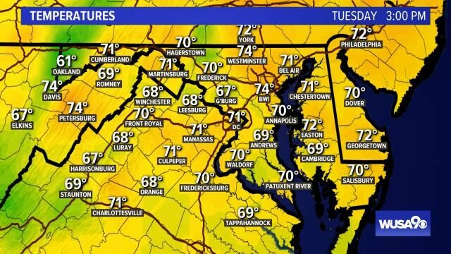 Hey DC! mid afternoon temps...get the forecast here: https://t.co/NiNkVhZR7b #WUSA9Weather #WEATHER #DCWX #MDWX #VAWX https://t.co/Eizm2sr8ml