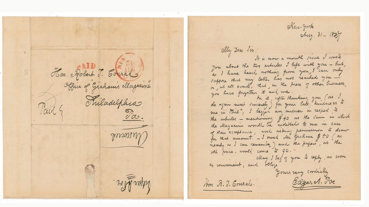 Poe & Thoreau Among Fine Autographs and Artifacts at RR Auction  | Fine Books & Collections  https://t.co/NclMf0Hx6N via @finebooks  @RRAuction  https://t.co/zlQOjEeVqF #autograph #edgarallanpoe  #philadelphia #writer #theraven  #poe #books #literature #thoreau #henrydavidthoreau https://t.co/T5AKvdDbOg