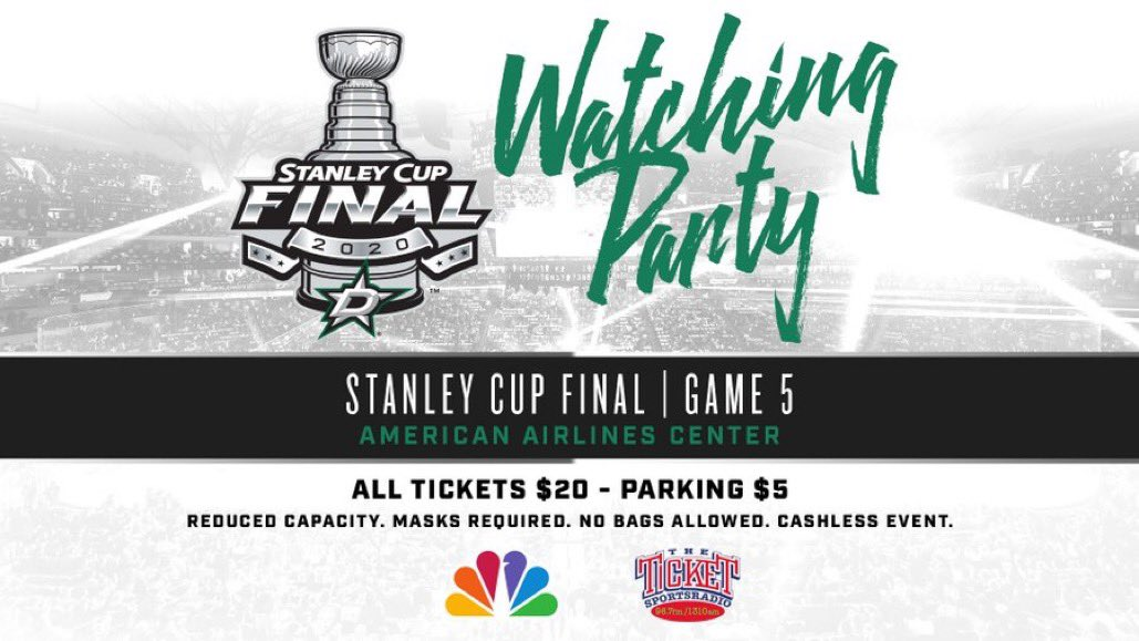 Tickets for Saturday's socially-distanced Game 5️⃣ Watching Party at @AACenter are now available!  Check out the all-inclusive VIP Experience, which includes a customized Stanley Cup jersey and locker room tour 👀  🎟 https://t.co/MOYxf8ubBZ https://t.co/0P5VUVwL2n