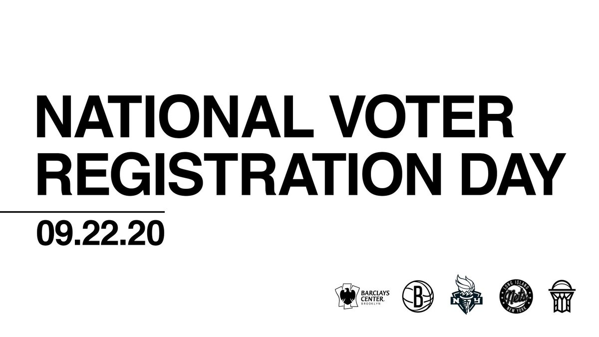 Brooklyn, today is #NationalVoterRegistrationDay   🗳 Register now and make an impact for our future » https://t.co/WpYjAWpmVi https://t.co/QOYrUw8N1t