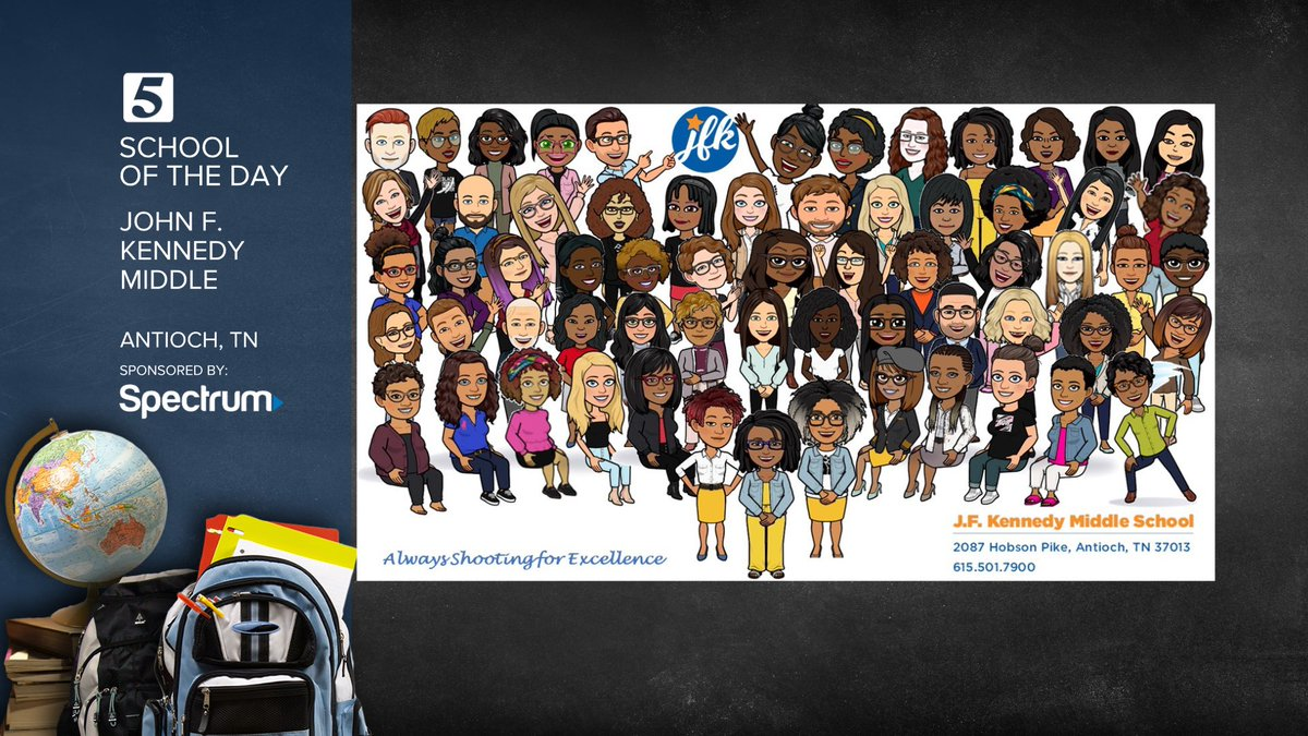 The Bitmoji Staff Picture I created will be featured to highlight @JFKennedyMNPS for School of the Day this Wednesday !! #RisingStars https://t.co/6BVjHfpGPP