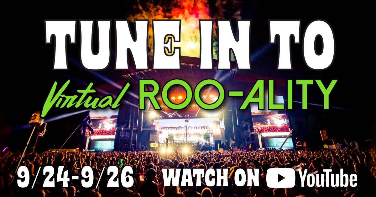 .@Bonnaroo's #VirtualRooality starts on @YouTube today! You can catch us tomorrow at 9:20 PM EDT // 8:20 PM CDT // 6:20 PM PDT.  See the full schedule at https://t.co/CRr39EkCst. https://t.co/zw5jlXtUub