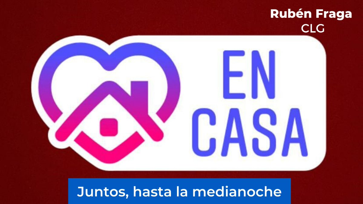 📻🎙️#RubénFragaCLG | Seguimos cuidándonos entre todos, #EnCasa, haciendo @RubenFragaCLG, #juntos, hasta la medianoche🌉 https://t.co/PhuSw45Ygc