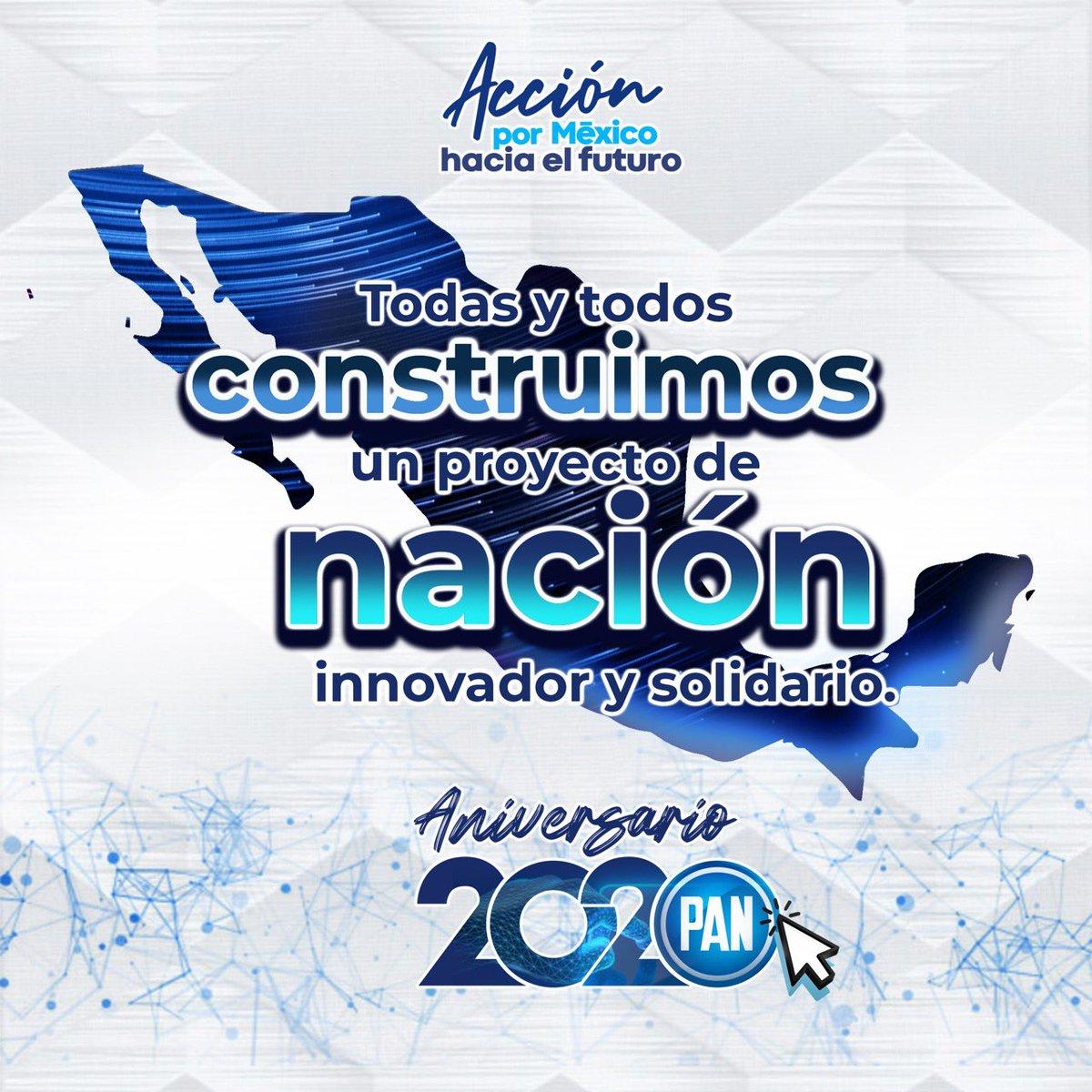 Todas y todos podemos construir un mejor México. Es tiempo de ver hacia el futuro y lograr un nuevo rumbo para el país, donde todas y todos vivamos mejor.   ¡Celebra con nosotros nuestro aniversario 2020! https://t.co/VBT4W4AepL  #AcciónPorMéxico https://t.co/lMwSiDRArZ