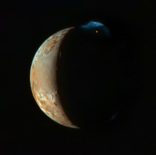 Ío, el satélite de Júpiter es el mundo más volcánico del sistema solar.🌌  -NASA https://t.co/7eMYdbJeeV