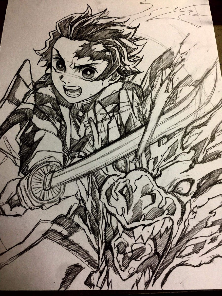 Tanjiro&Nezuko  #鬼滅の刃 #鬼殺隊 #炭治郎 #祢豆子 #草稿 #画画 #demonslayer #kimetsunoyaiba #kimetsu_no_yaiba #tanjiro #nezuko #sketch #pencil #Pencildrawing #pencilart #pencilsketch #draw #drawing #illustration #illustrationart #art #artwork #anime #manga #otaku https://t.co/DlZUwgYS17