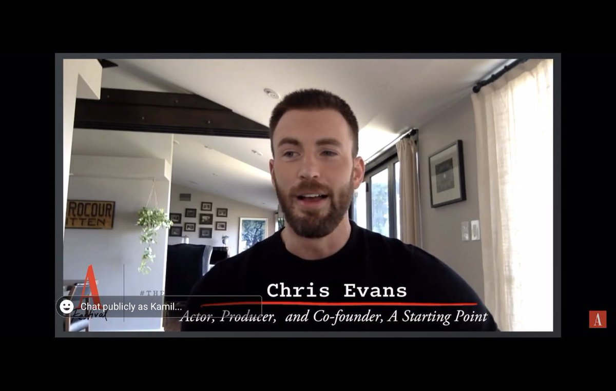 Chris Evans: Actor, Producer, Co-founder of A Starting Point, and the King of my Heart. 😂 https://t.co/nsKyj1fO5I