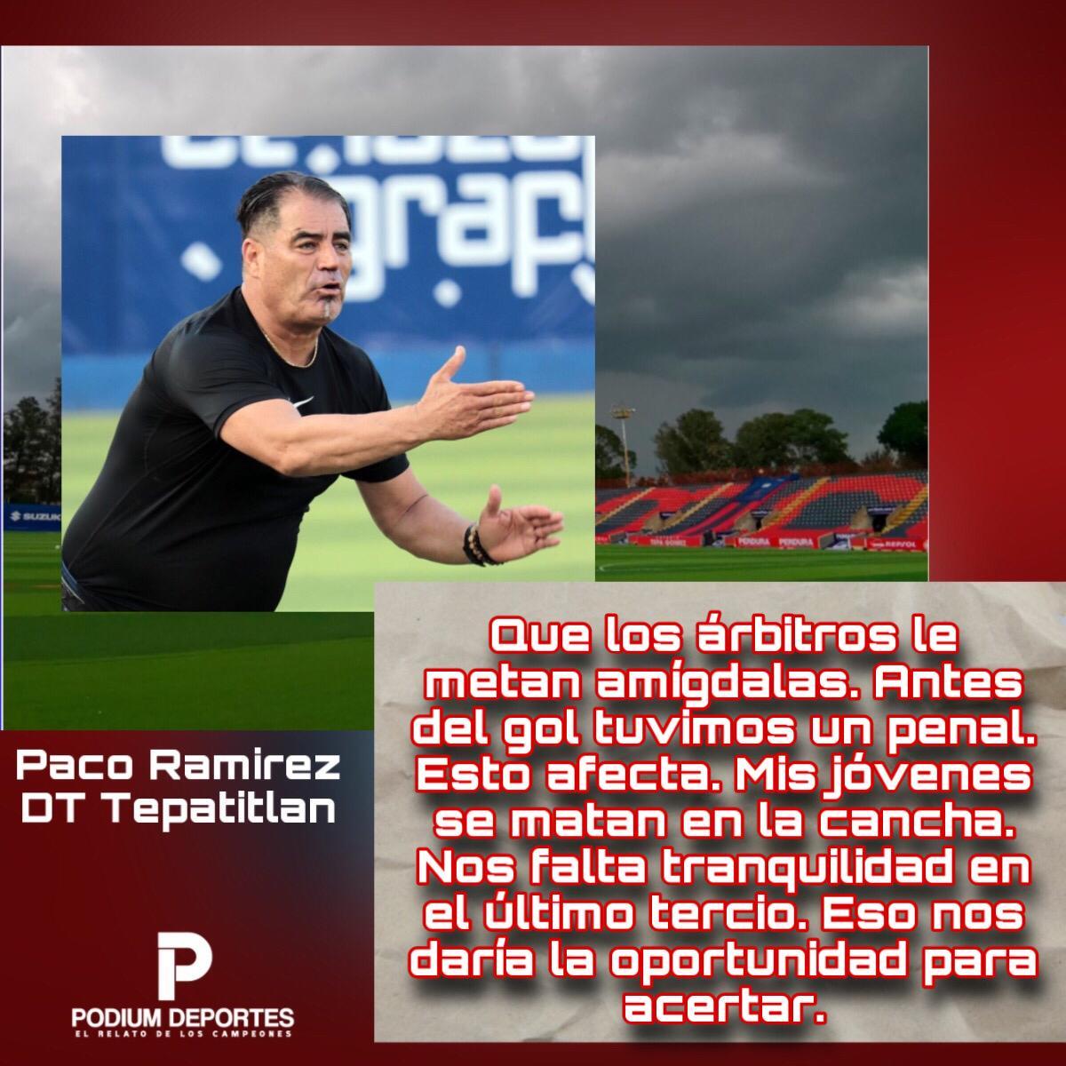 #LigaBBVAExpansionMX  Paco Ramírez, DT de #Tepatitlan, habló en #ConferenciaDePrensa, luego de la derrota ante Mineros, por la #Jornada6 del #Guard1anes2020. https://t.co/jPJs6Bitro