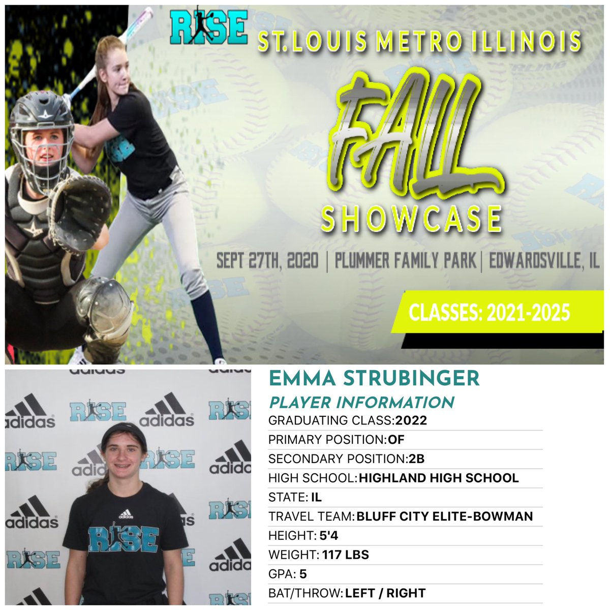2022 Emma Strubinger  (Highland HS & Bluff City Elite) is coming back! - She will be updating 📸 Picture 📈Verified Stats 🎥 2nd Skills video 💻RISE profile #whosnext? #Adidas #getnoticed  5 Days away, Register NOW➡️ https://t.co/TlXdpdSlcV https://t.co/t8oYlnpQaO