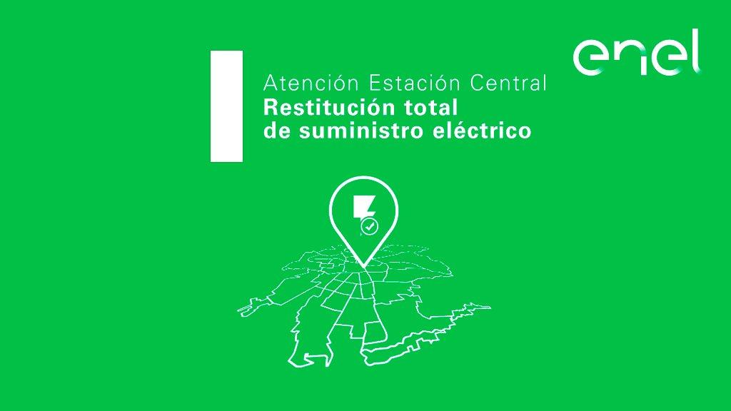 [22:03] Informamos que está superado #CorteDeEnergía que afectaba al sector desde Av. Libertador Bernardo O'Higgins hasta Ferrocarril en la comuna de Estación Central. Por favor revise los automáticos de su vivienda. https://t.co/PqqdsgnMHQ