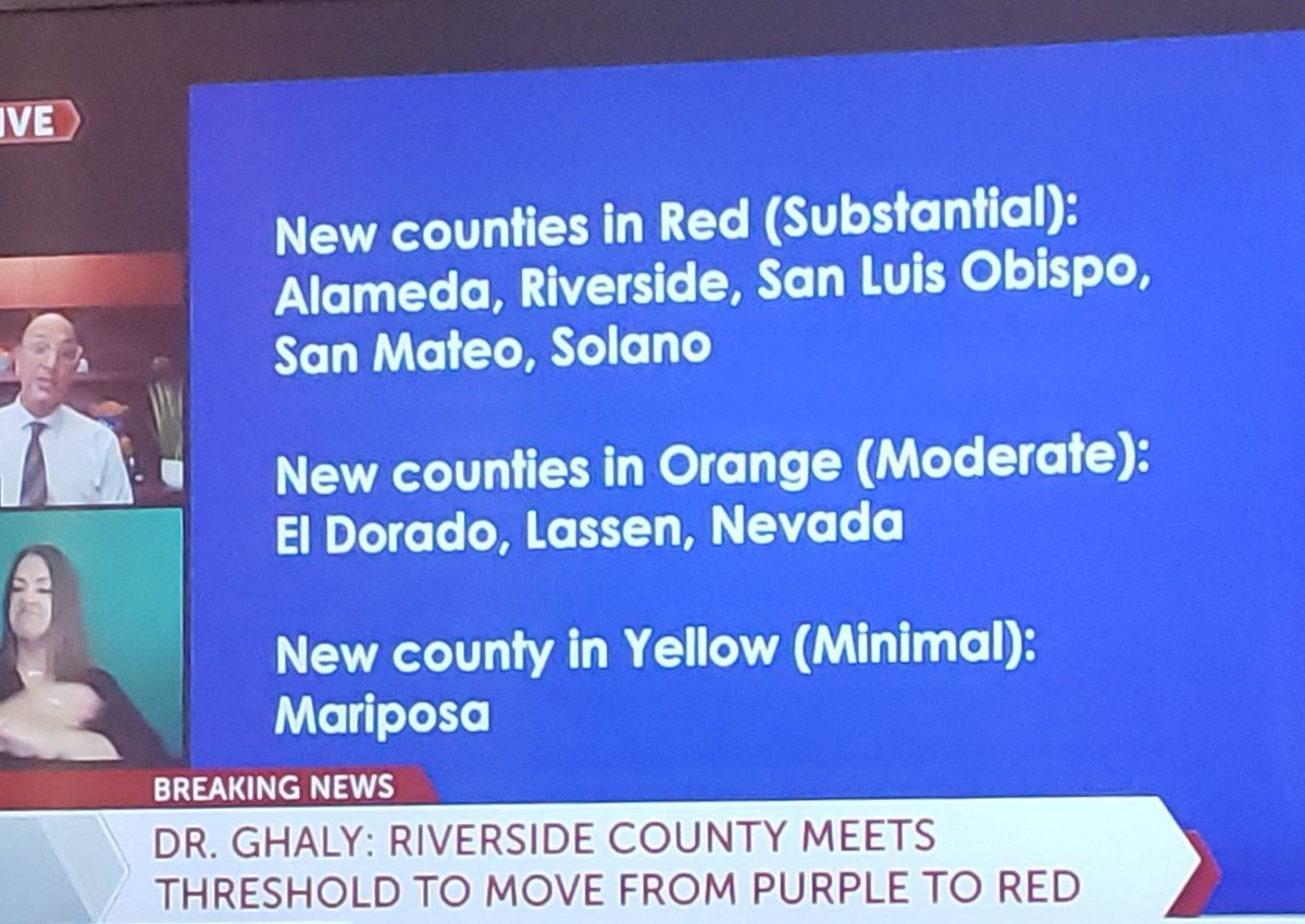 #BreakingNews Orders Revised Throughout CA allows Nail Salons to Open Indoors with Restrictions Even in Purple Tier (Tier 1). More Counties Move to Less Restrictive Tiers. Coachella Valley now in Tier 2 ( Red). Churches, Nail Salons, Mivie Theatres, Indoor Dining, Massage, etc. https://t.co/CjSwKN23S2