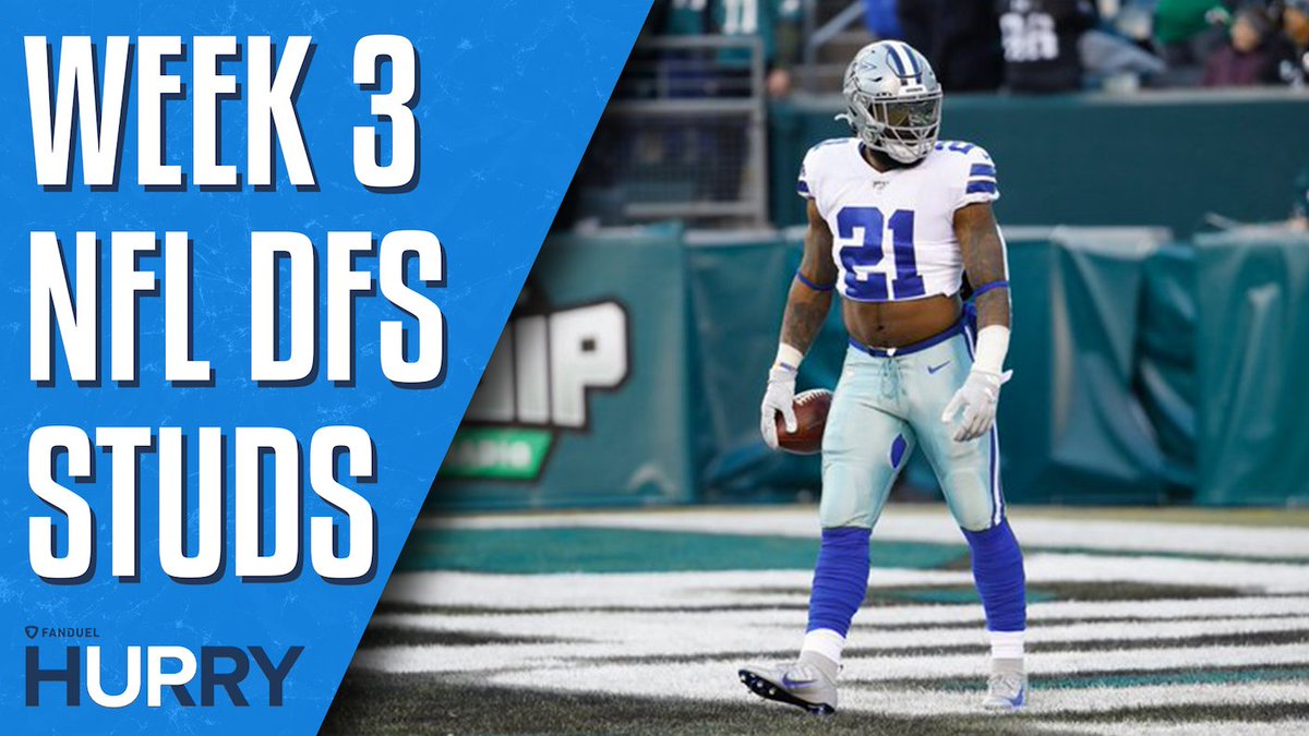FEED ZEKE 🍽️  @DFS_Tom & @GreggSussman discuss the huge floor Zeke has for Week 3 against the Seattle defense 😤  FanDuel Hurry Up ➡️ https://t.co/CPa7GZCget https://t.co/iF8Wy13rL3
