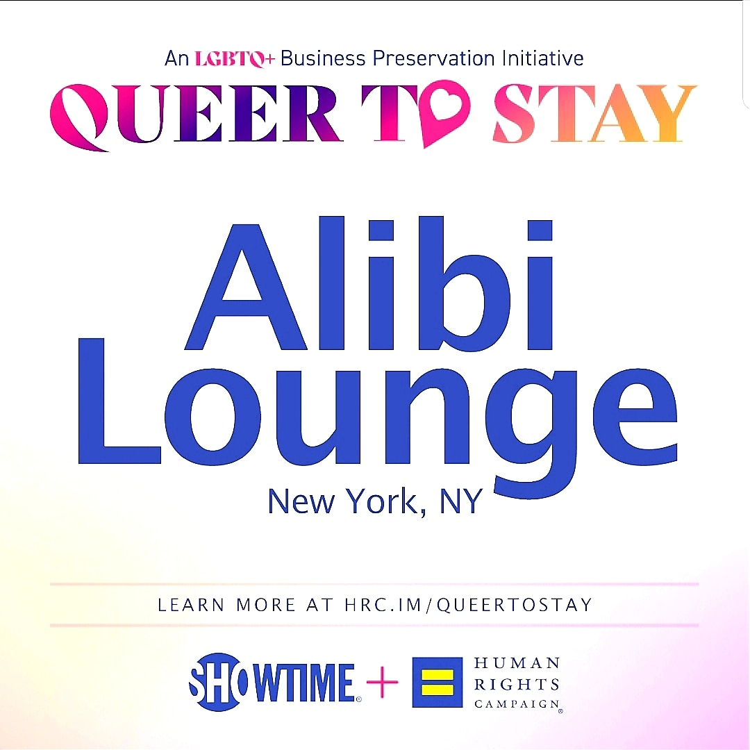 """Thank You at @HRC and @Showtime for the """"Queer To Stay"""" award to @lounge_alibi What an honor! It is vital to preserve the very few POC LGBTQ #SmallBusinesses businesses trying to survive! #blackbusinessmatter #lgbtqbusinessmatter https://t.co/vr9L34tZF1"""