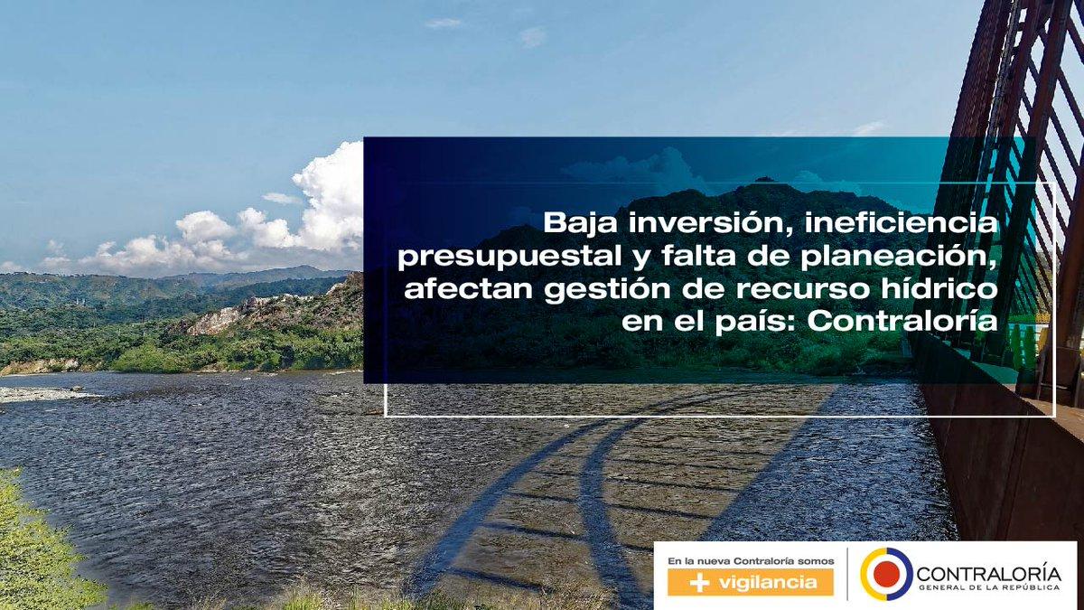 La @CGR_Colombia alerta ante baja inversión, ineficiencia presupuestal y falta de planeación, afectan gestión de recurso hídrico en el país. Todos los detalles AQUÍ >>> https://t.co/NwkK5TiDFx https://t.co/3keJsiFY4C