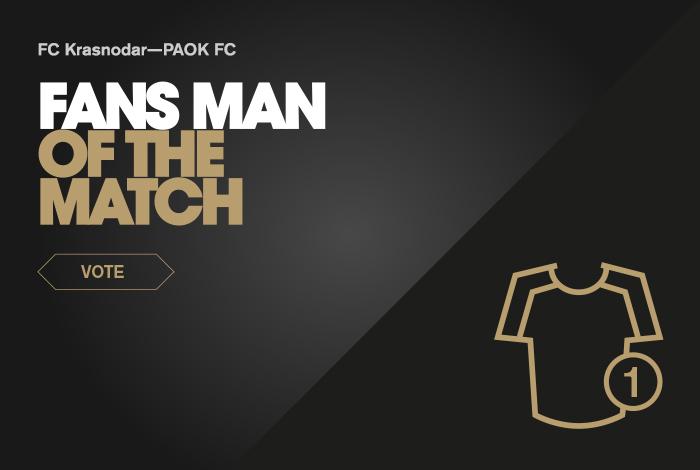 🏆#FansMVP Ψηφίστε τον Fans' Man of the Match κόντρα στη Κράσνονταρ - https://t.co/aJY394UPDn #KRAPAOK #UCL #poll https://t.co/KaxvKuls7B