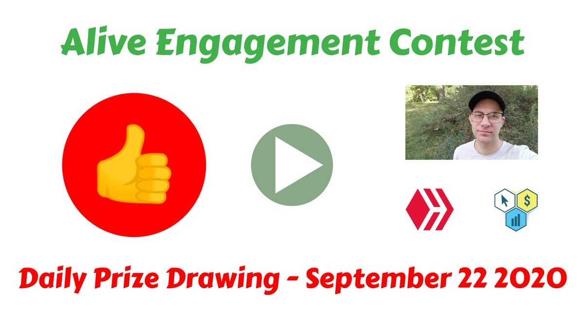 Alive Engagement Contest - OPEN For Entries - September 22 2020  https://t.co/kq8Z7g3EC0  #IAmAliveChallenge #hiveisalive #hive #3speak #video #contest #hivepower https://t.co/5Y4Ovk0r7l