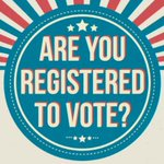 Image for the Tweet beginning: Today is #NationalVoterRegistrationDay - please