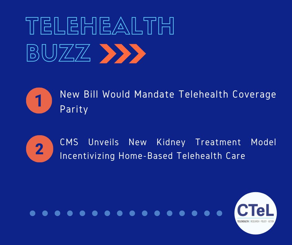 "In today's #TelehealthBuzz - HR 8308 attempts to answer the question, ""who gets to decide how healthcare providers are reimbursed for telehealth services?"" - https://t.co/OcQJSl3KXo  #TelehealthBuzz #CTeL #PaymentParity #Telehealth #Telemedicine #DigitalHealth #CTeLNews #CMS https://t.co/uTTuFAcLGu"