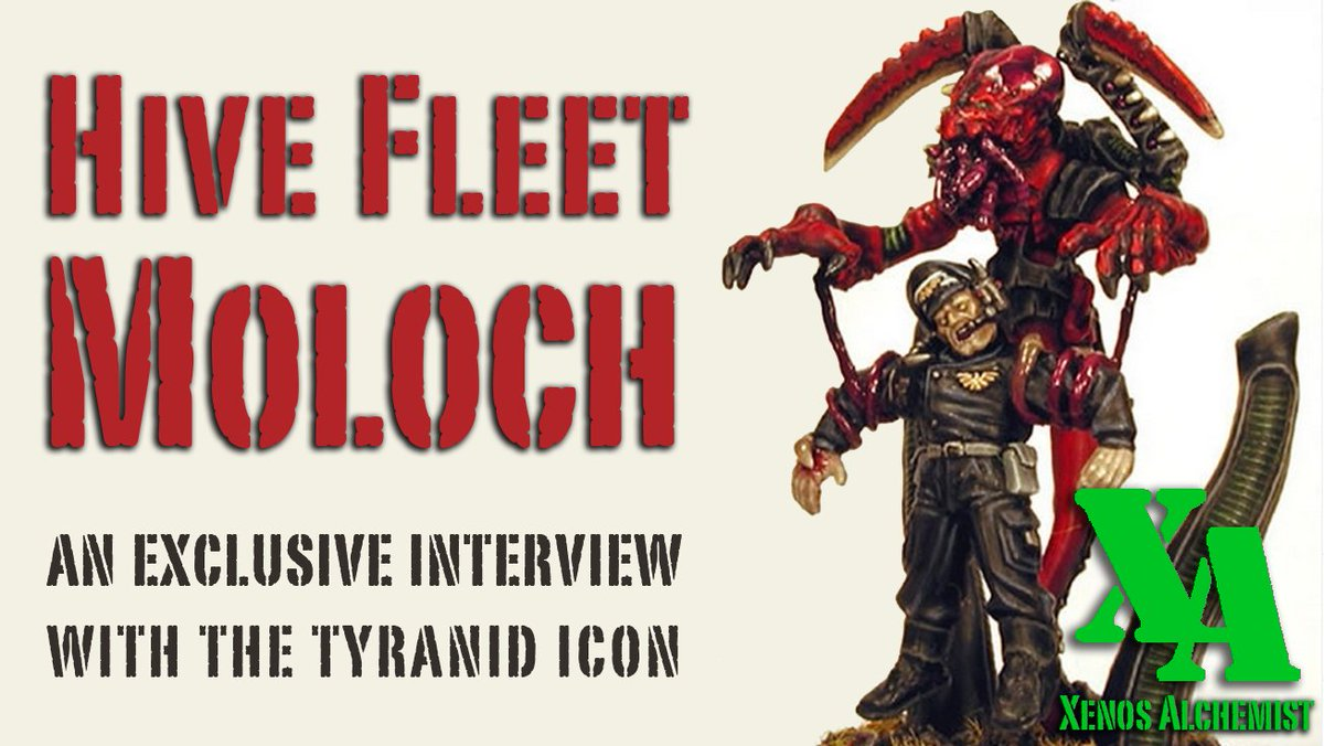 Our podcast, Xenos Alchemist, returns with a biggie: an exclusive interview with one of the most well-known Tyranid artists out there: Hive Fleet Moloch / Marco Schulze!  Available in podcast & video format: https://t.co/mZXm09v6uU #Tyranids #WarhammerCommunity #Warmongers https://t.co/BeqncMKhY0