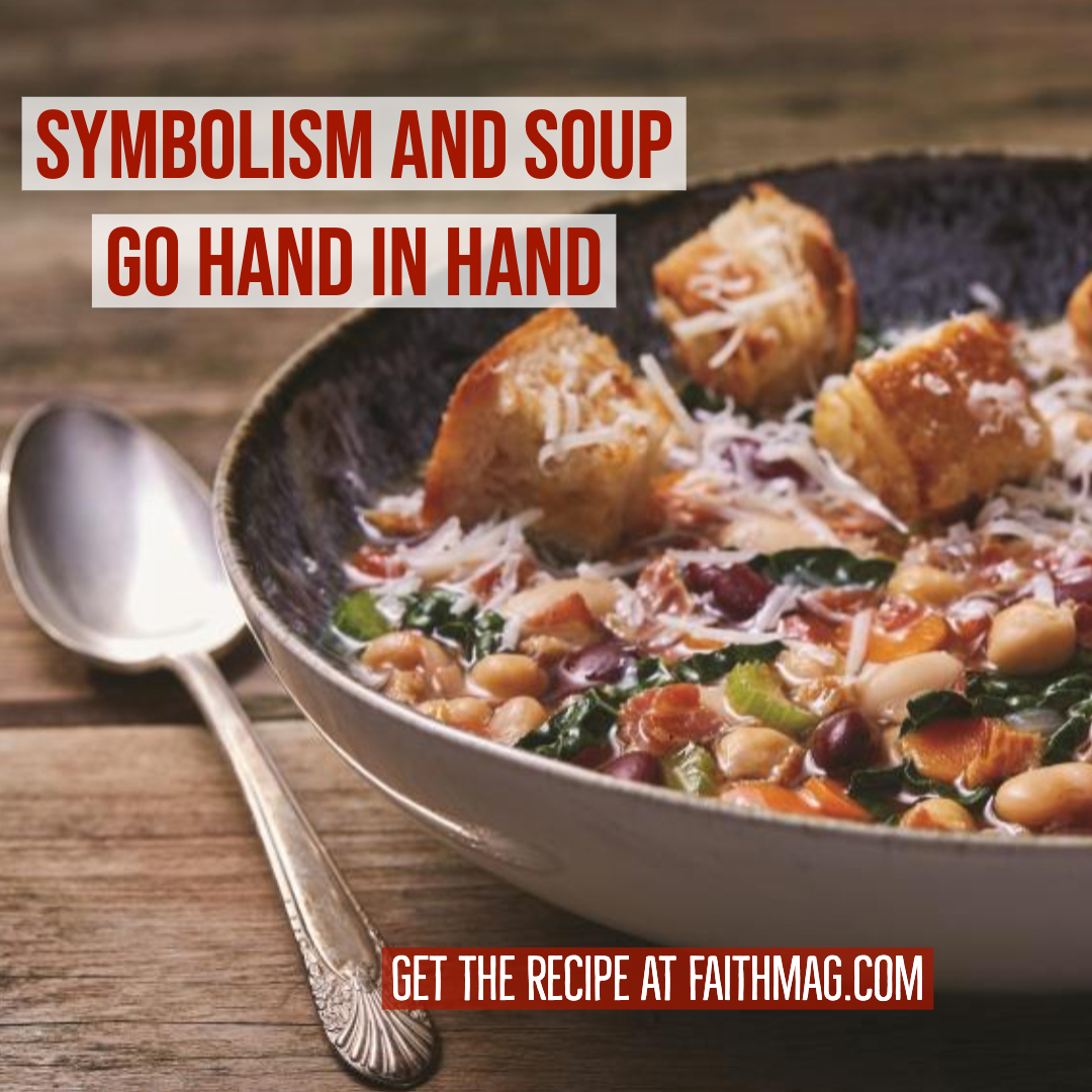 Make Tuscan Bean Soup this week, along with this conversation starter – how is food a symbol of God's love? Get the recipe: https://t.co/0VivOopzSo  #soup #recipes #souprecipes #dinnertonight #symbolism #Godisgood #familydinner #mealplanning #beansoup #Faithmag #Faithpub https://t.co/An2urq4jZ1