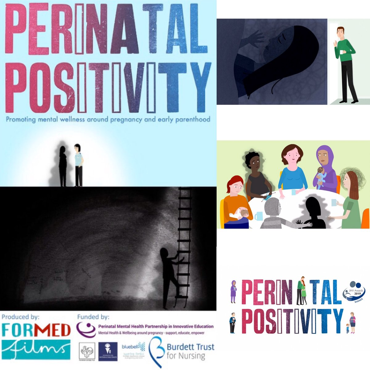 Meet our next shortlisted film!  Perinatal Positivity - Available to watch on https://t.co/OUvsIsRgEJ 2-10 Oct  #mentalhealth #parenthood #newborn #pregnancy #newparent #YouAreNotAlone @PerinatalFilm @ForMed_Films @RachelLiebling @FMCH_UK @BluebellCare @BurdettTrust @ChelwestFT https://t.co/hNSgAqE5Y7