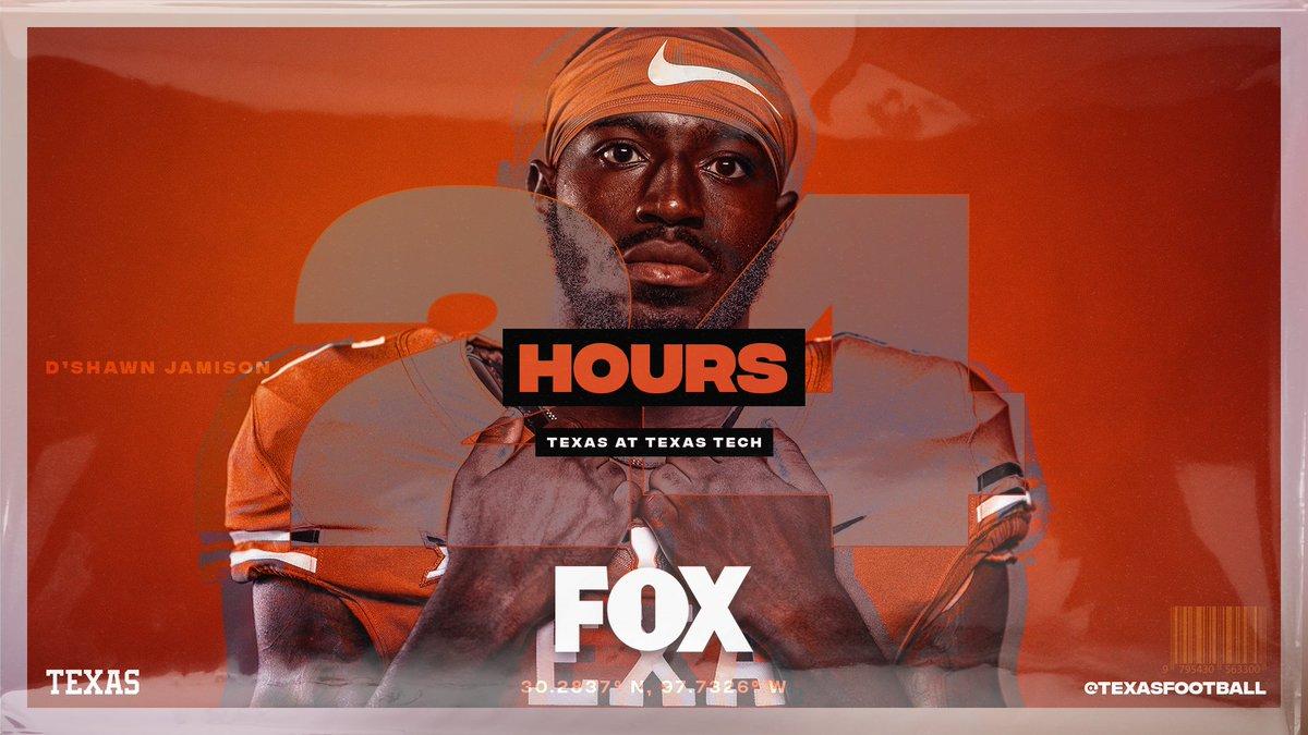 24 Hours 🤘 #BeatTech #ThisIsTexas #HookEm